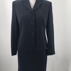 Ann Taylor Loft Navy Blue Skirt Set